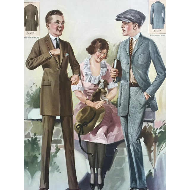 Art Deco 1923 Tailor's Fashion Print For Sale - Image 3 of 5