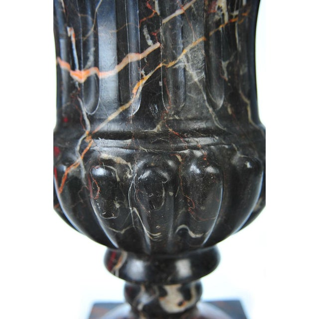 Neoclassical Variegated Marble Urns - A Pair - Image 9 of 10