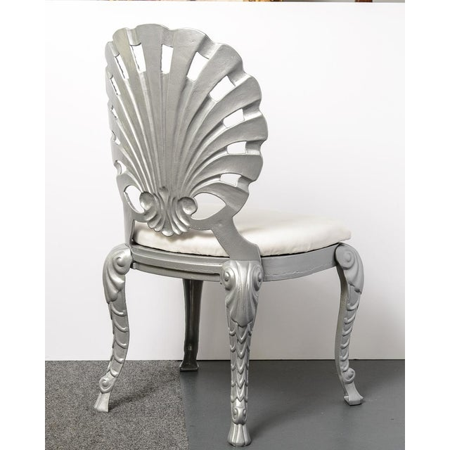 Hollywood Regency Vintage Grotto Aluminum Shell Chairs - Set of 4 For Sale - Image 3 of 13