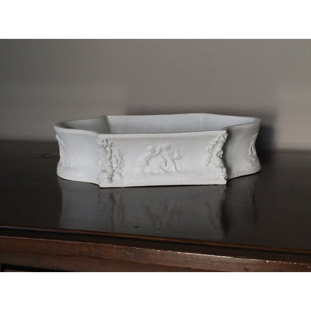 Rectangular White Bisque Floral Tray - Image 2 of 9