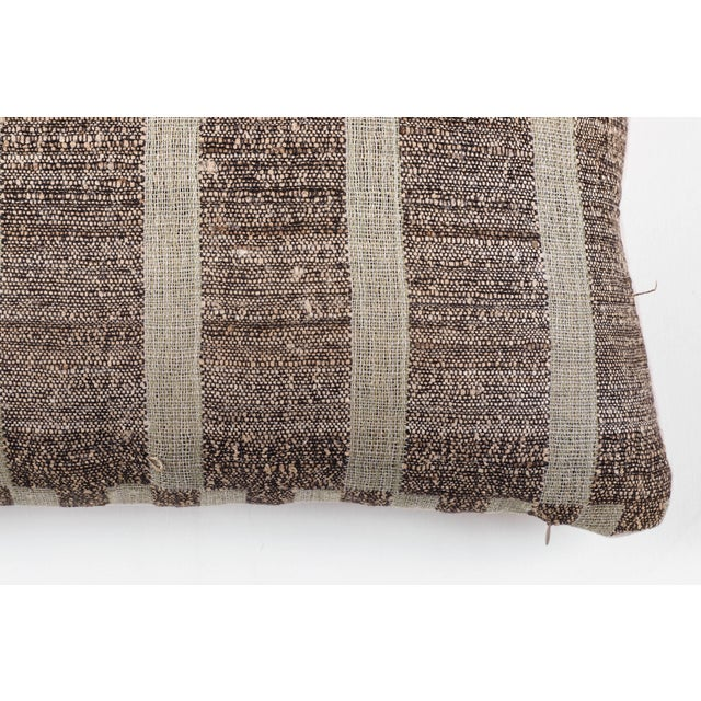 Contemporary Indian Handwoven Pillow Mondrain Check For Sale - Image 3 of 5