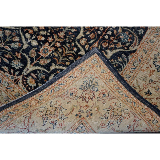 Charcoal 8' X 9' Vintage Wool Peshawar Oriental Rug For Sale - Image 8 of 11