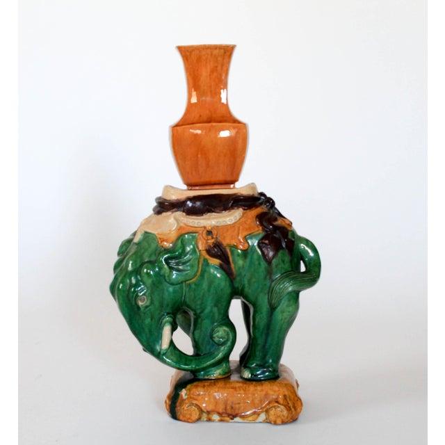 Vintage Elephant Figure Vase For Sale - Image 11 of 11