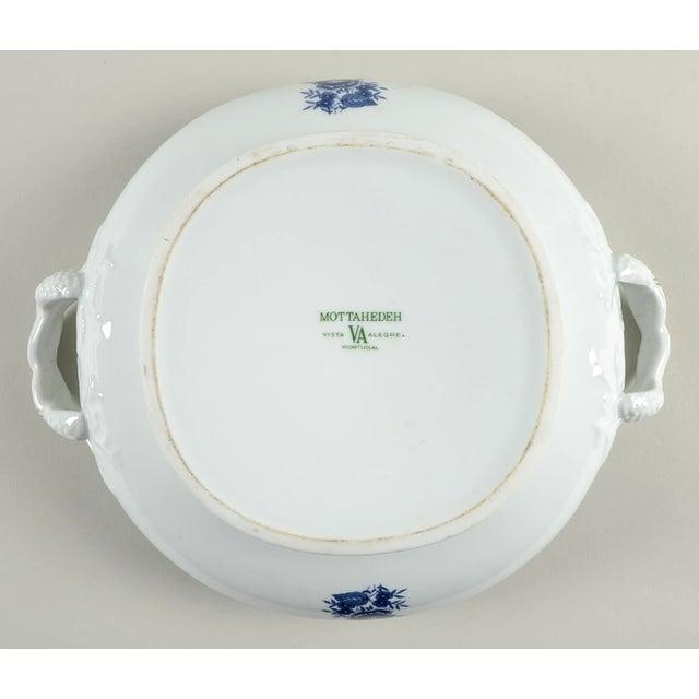 Mottahedeh Indigo Covered Serving Bowl For Sale - Image 10 of 11