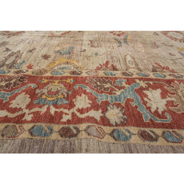 "Sultanabad Persian Rug - 8'1"" x 10'2"" For Sale - Image 5 of 9"