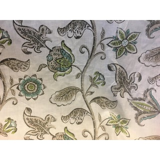 "Nina Cambpell's ""Kew Floral"" Green Fabric - 54ʺw × 360ʺh For Sale"