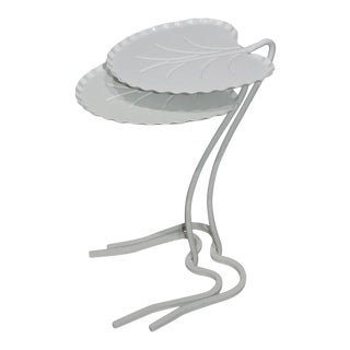 Mid-Century Modern Salterini Lily Pad Tables Nesting - Set of 2 Lilypad For Sale