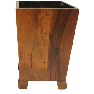 George Nakashima Style Wood Waste Basket For Sale