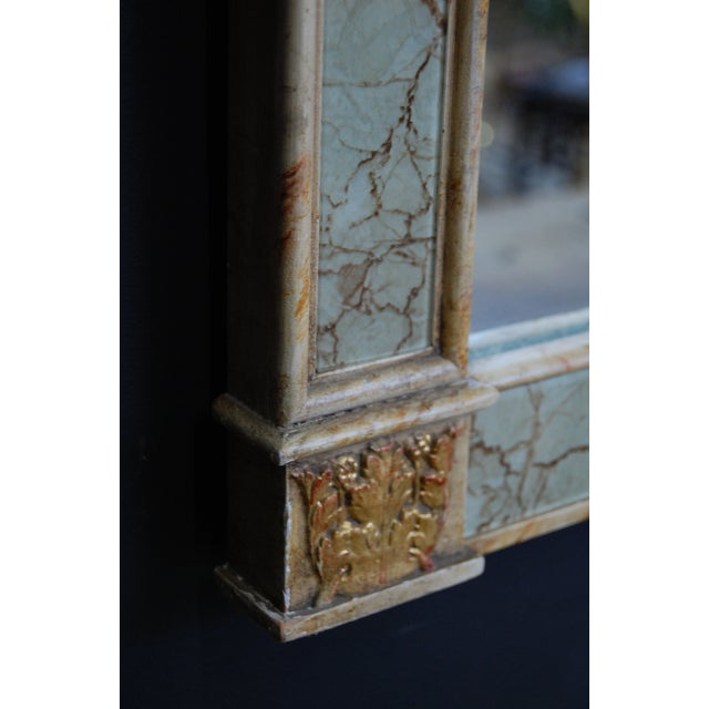Vintage Gilt Trumeau Mirror For Sale In Chicago - Image 6 of 9