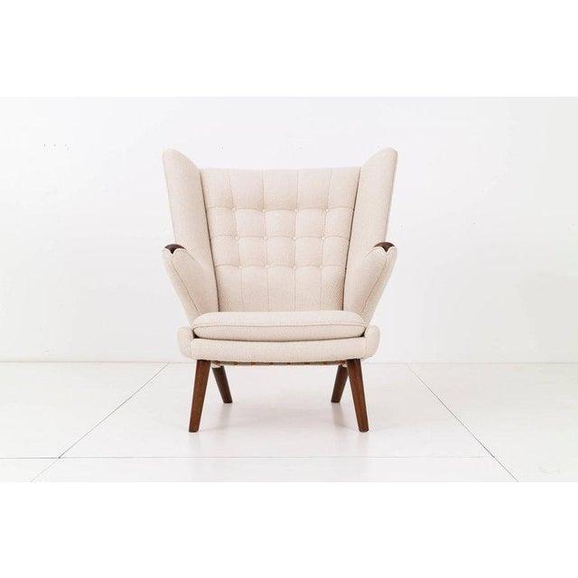 Hans J. Wegner Papa Bear Chair and Ottoman - Image 4 of 7
