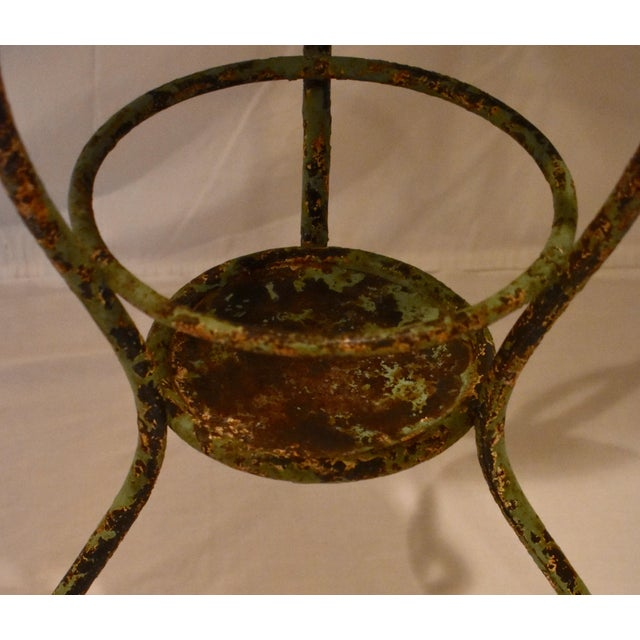 Metal Wrought Iron Washstand With Enameled Copper Bowl For Sale - Image 7 of 11