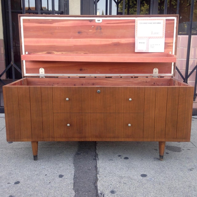 Lane Furniture Mid-Century Storage Chest Credenza - Image 6 of 11
