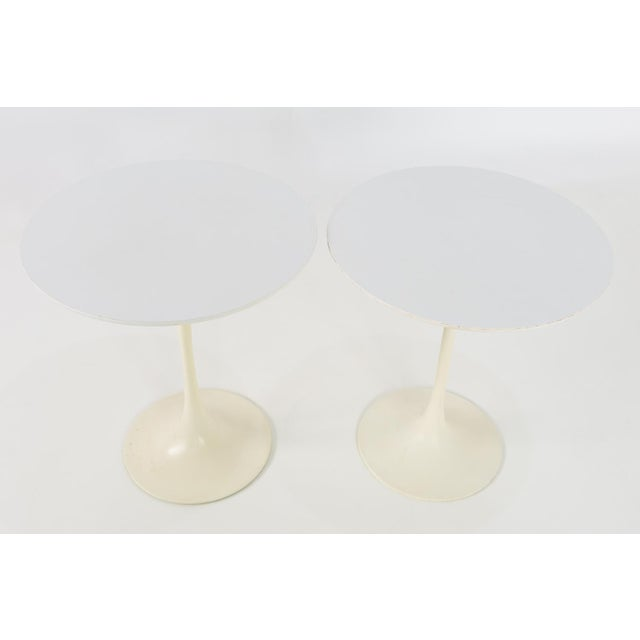 Eero Saarinen for Knoll Mid Century Modern round tulip side end tables. Great vintage condition. Each table measures 17.75...