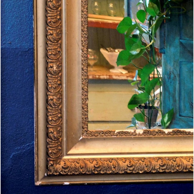 Antique Early 20th Century Gold Chippy Mirror For Sale - Image 4 of 6
