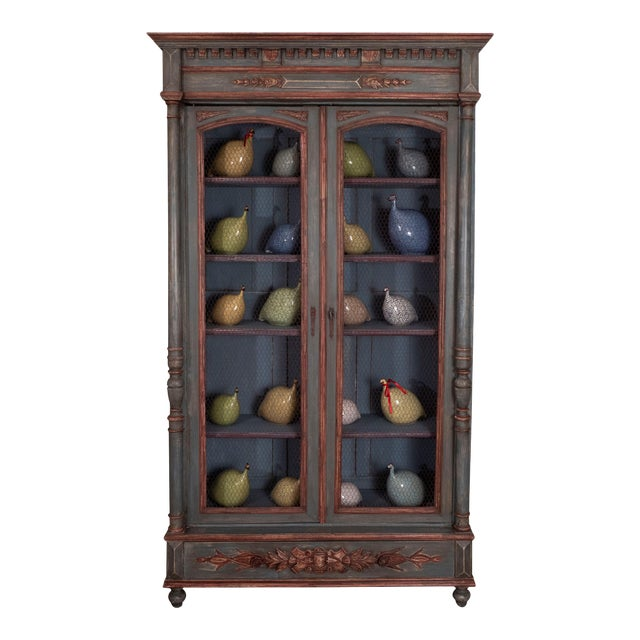 French Painted Bibliotheque For Sale