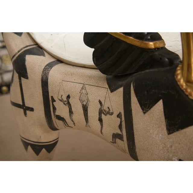 Early 20th Century Pair of Painted and Parcel Gilt Bugatti Armchairs For Sale - Image 4 of 10