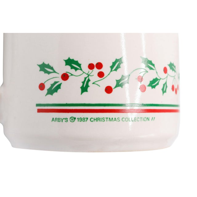 Arby's 1987 Christmas Cups - Set of 4 For Sale In Boston - Image 6 of 7