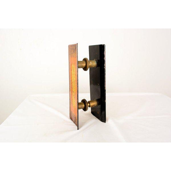 "Metal Enamel on Copper ""Del Campo Studio"" Italian Door Handles - a Pair For Sale - Image 7 of 10"