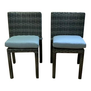 Southern Home Azalea II Outdoor Side Chairs With Seat Cushions - a Pair For Sale