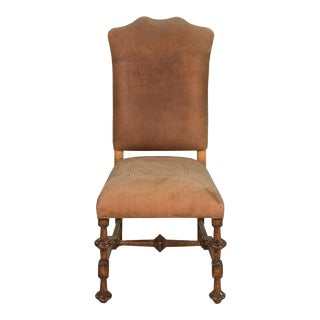 Toulouse Cognac Mahogany Leather Side Chair