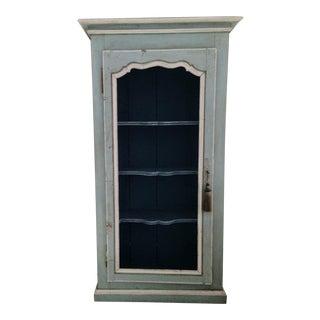 Vintage Painted Wood Cupbord Cabinet