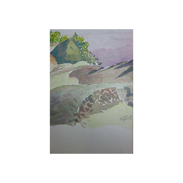 """Watercolor Painting - """"Small House Just Beyond"""" - Image 2 of 5"""