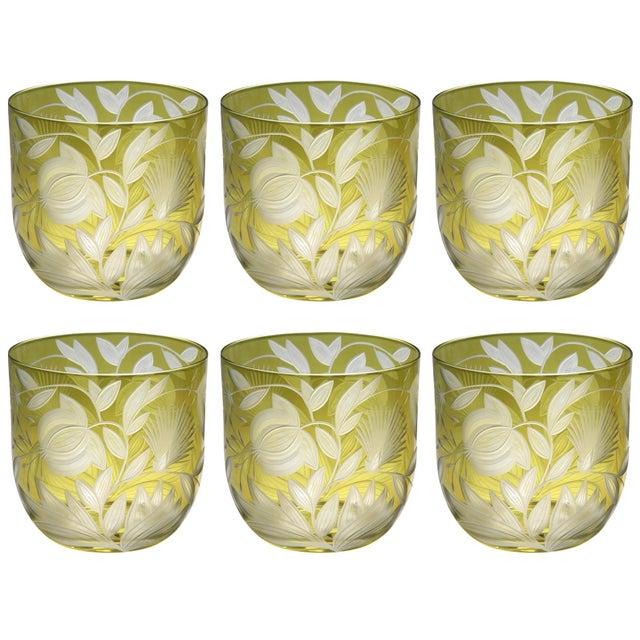 Artel Verdure Whiskey Glasses, Set of 6, Olive For Sale - Image 4 of 4