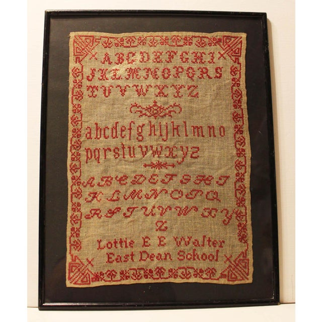 English 19th Century Embroidery Sampler - Image 2 of 5