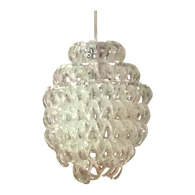 Draped Glass Chandelier - Image 1 of 4
