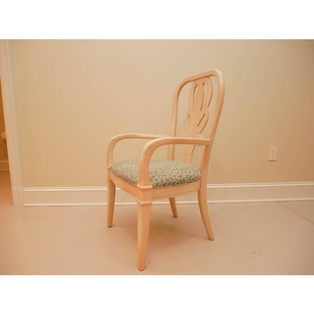 """Transitional 20th Century Bernhardt """"Palm Court"""" Dining Table & 8 Chairs - 9 Pieces For Sale - Image 3 of 9"""