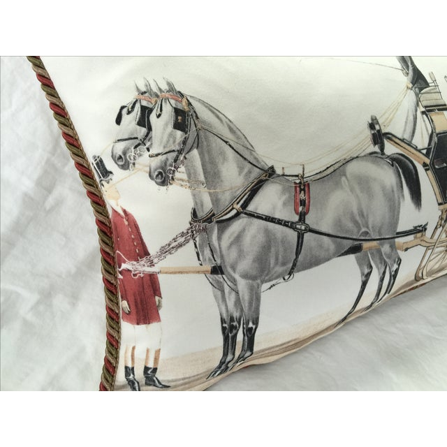 Aranjuez From Madrid Equestrian Accent Pillow - Image 4 of 7