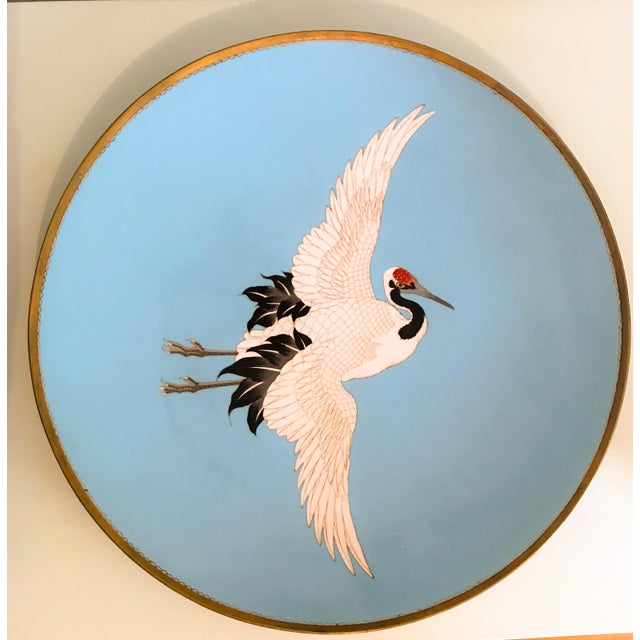 Art Deco Large Turquoise Bird Platters - a Pair For Sale - Image 3 of 6