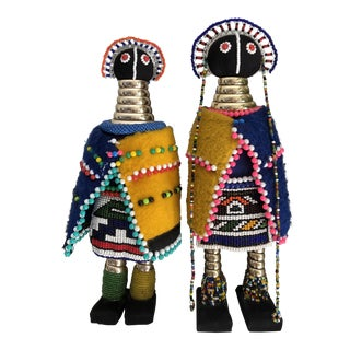 African Initiation Ndebele Dolls - a Pair For Sale