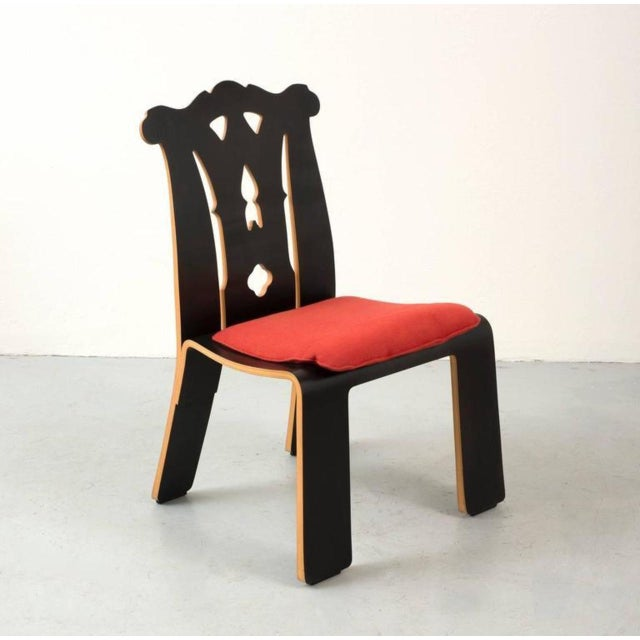 Mid-Century Modern Pair of Robert Venturi Chippendale Chairs for Knoll For Sale - Image 3 of 10