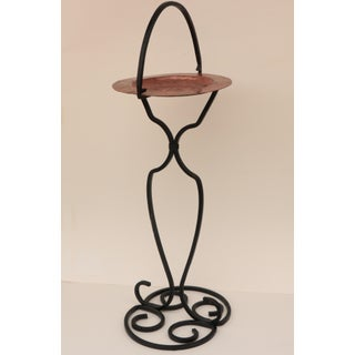 Wrought Iron and Hammered Copper Smoking Stand Preview