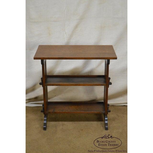 "*STORE ITEM #: 17796-axmr Roycroft ""The Roycrofters"" Antique Arts & Crafts Mission Oak Little Journeys Book Stand AGE /..."