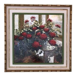 J. Ellis Artwork in a Unique Picture Frame For Sale