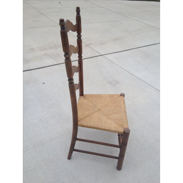 Vintage Tall Ladder Dining Chairs - Set of 4 - Image 3 of 10