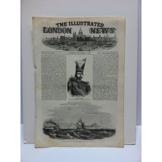 """1856 Antique Illustrated London News """"Bushire on the Persian Gulf"""" Print For Sale In Pittsburgh - Image 6 of 6"""