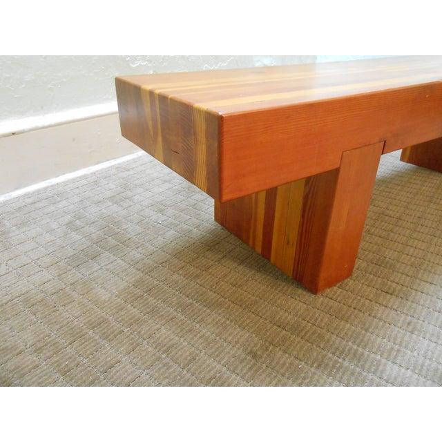 Midcentury Studio Butcher Block Coffee Table - Image 4 of 10