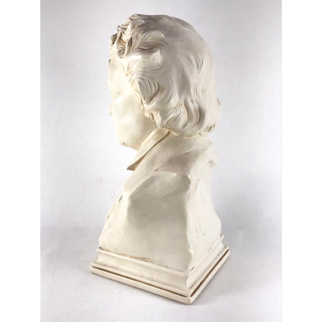 Mid 20th Century 20th Century Contemporary Alexander Backer Co Ivory Colored Beethoven Bust For Sale - Image 5 of 11