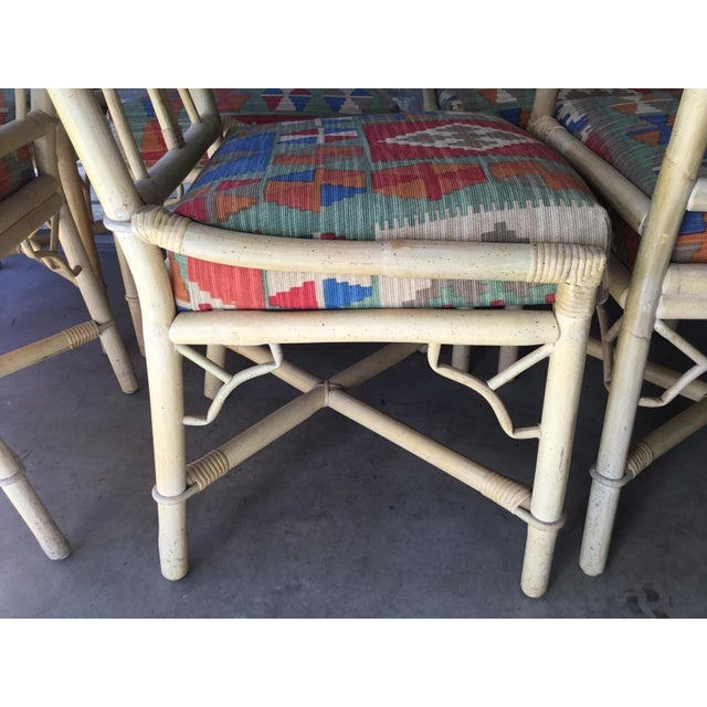 Hollywood Regency Bamboo Dining Chairs, Set of 6 For Sale - Image 3 of 8