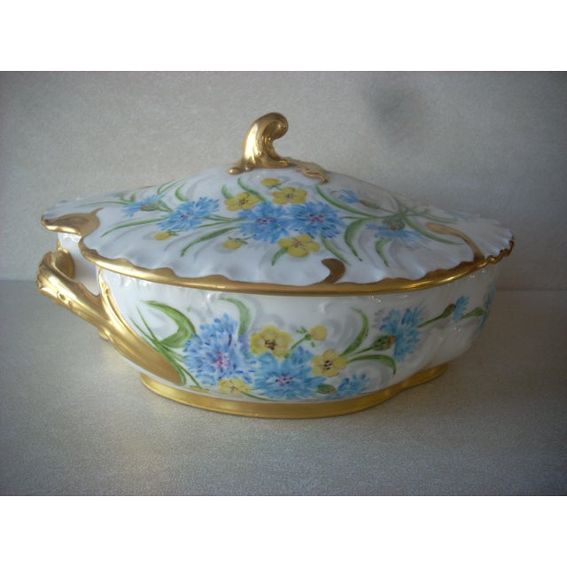1930s Limoges Covered Serving Dish For Sale - Image 6 of 6