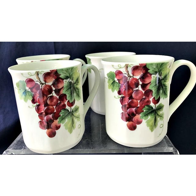 Royal Doulton Royal Doulton Vintage Grape Pattern China Service- 25 Pieces For Sale - Image 4 of 6