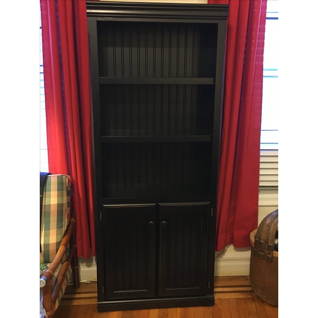 Distressed Black Bookcase - Image 4 of 5