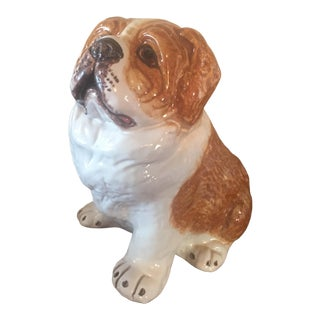 Vintage St. Bernard Figurine, Made in Italy For Sale