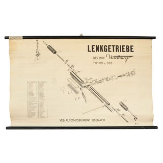 German Automotive Linen Rolled Chart II For Sale