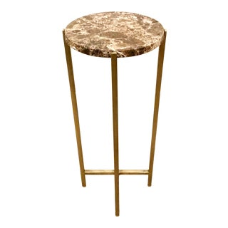 Contemporary Interlude Home Lara Circular Drinks Table For Sale