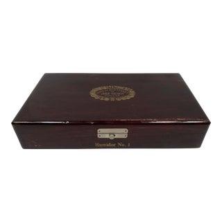 Vintage 1970's Cuban Cigar Humidor Box For Sale
