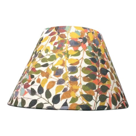 """Confetti Leaves 12"""" Coolie Lamp Shade in Ash Grey For Sale"""